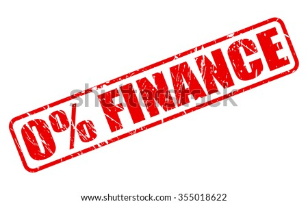 0% FINANCE red stamp text on white - stock vector