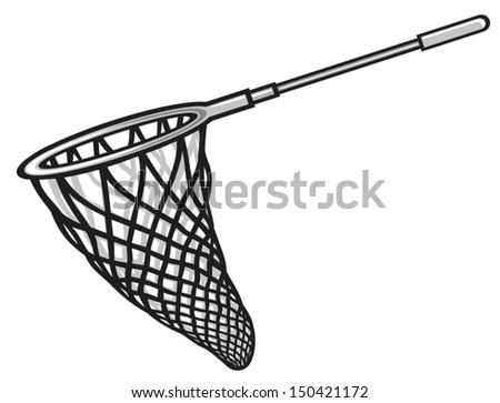 fishing net - stock vector