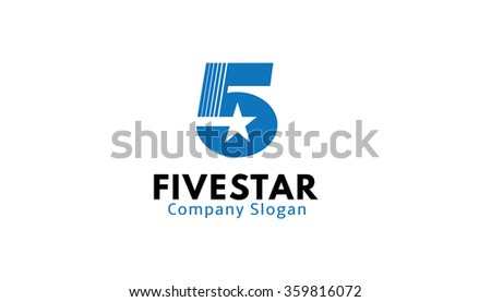 Five Star Design Illustration  - stock vector