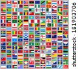 216 Flags of world, flat vector illustration, set (march 2014) - stock photo