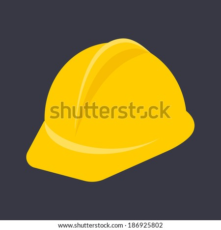 Flat Construction Helmet - stock vector