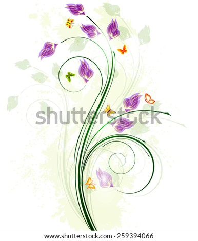 Floral background design - stock vector