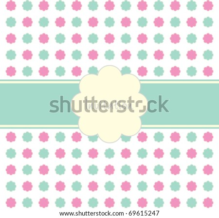 Floral Invitation Background (Vector)