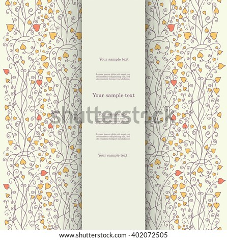 Floral vintage template happy birthday invitation stock vector floral vintage template for happy birthday invitation greeting baby kid card vector stopboris Images