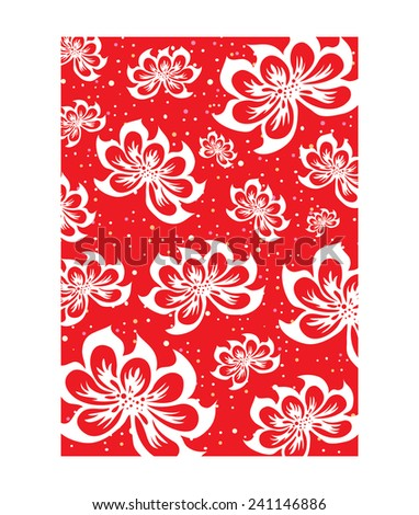 Flower Pattern Background (vector) - stock vector