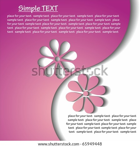 Flower. vector background with space for your text. - stock vector