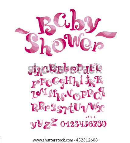 Font For Girl With Numbers And Alphabet Child Style ABC Kids Lettering