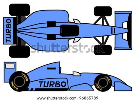 1990 formula car - stock vector
