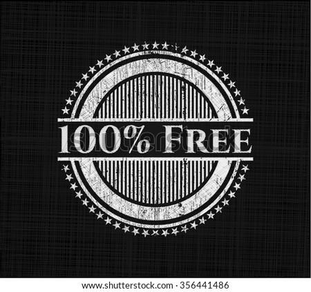 100% Free chalk emblem - stock vector