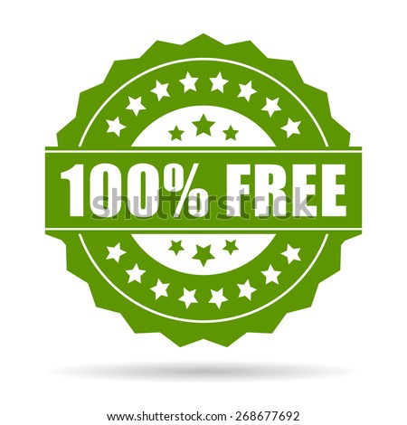 100 free icon - stock vector