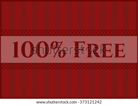 100% Free retro style card or poster - stock vector