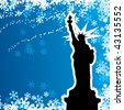 Freedom of NY - stock vector