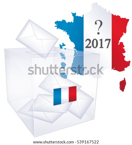 2017 French elections III. Political vote issue icon.