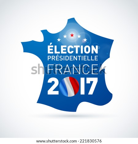 2017 French presidential election illustration - in french. EPS 10 - stock vector
