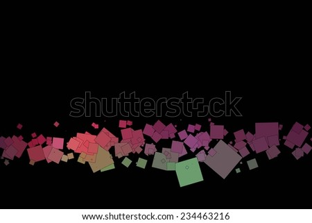 Fun and very colorful series of squares or pixels in all the colors of the spectrum, from light to dark. - stock vector