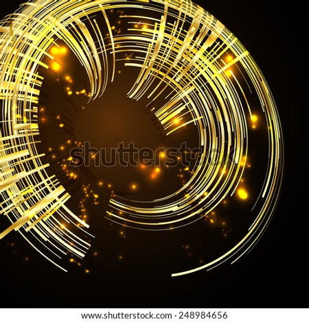 Futuristic 3D abstract design. - stock vector