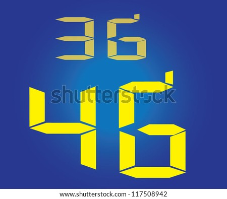 3G and 4Gwallpaper - stock vector
