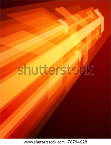 3g graph arrows move up in perspective vector background - stock vector