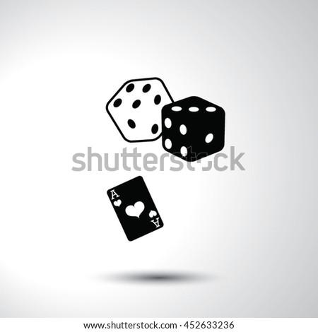 Gambling sign flat icon illustration - stock vector