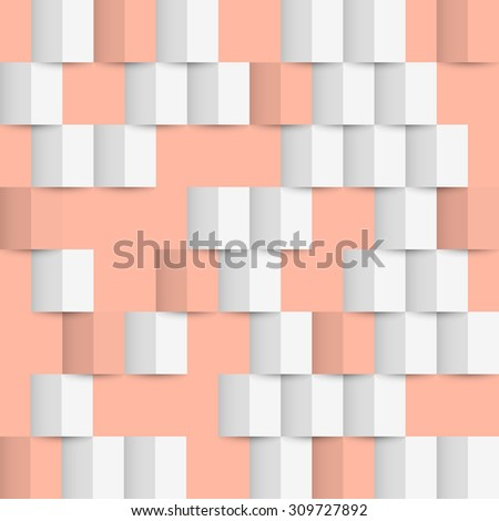 Geometric 3d origami seamless pattern. Vector background - stock vector