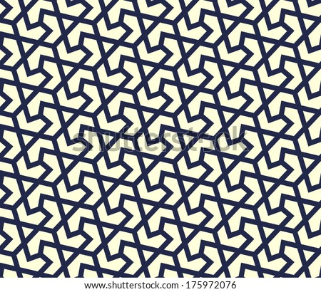Geometric pattern. Traditional Arabic or Islamic seamless ornament. - stock vector