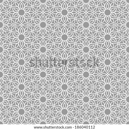 Geometric seamless pattern. Arabesque. - stock vector