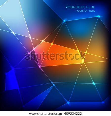 Geometry  design elements on a colorful background. - stock vector