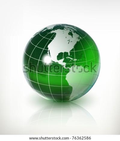 glass earth - globe - stock vector