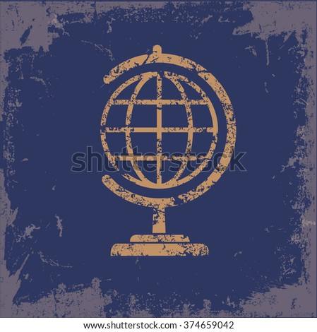 Global design on old paper background,vector