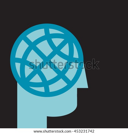 global strategic planning:think big - stock vector
