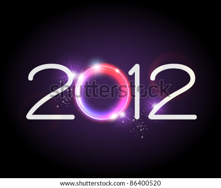 2012 glow in the dark - stock vector