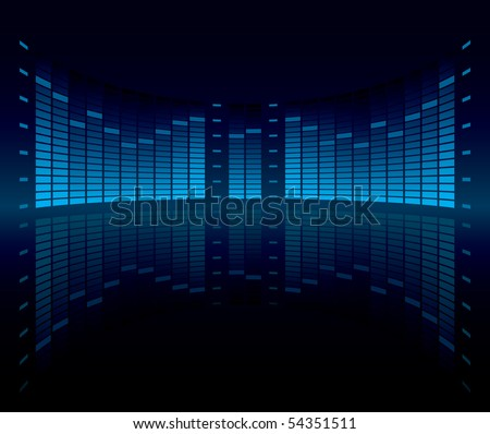 Graphic Equalizer Display (editable vector) - stock vector