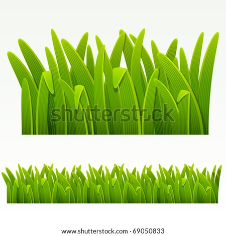 Grass green border.(can be repeated and scaled in any size) - stock vector