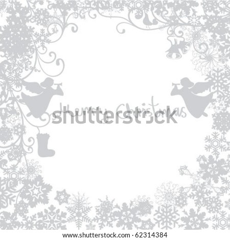Gray Background for new year and for Christmas - stock vector