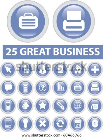 25 great business buttons. vector - stock vector
