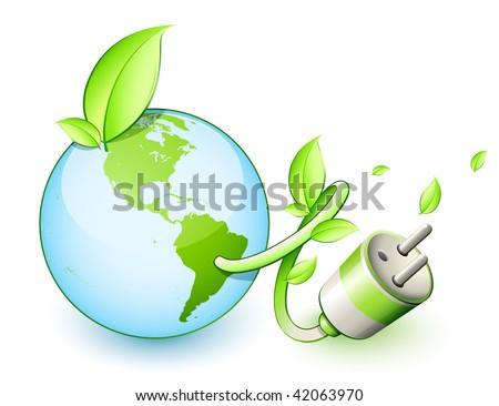 Green earth concept - stock vector