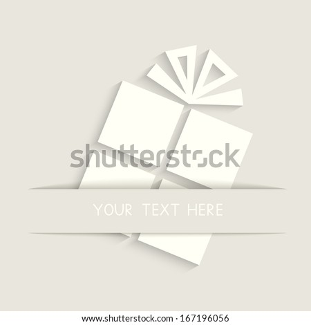 Greeting Card with gift box. Vector illustration. EPS10.  - stock vector
