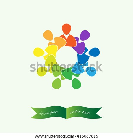 Group of People , business  meeting Icon Vector Symbol