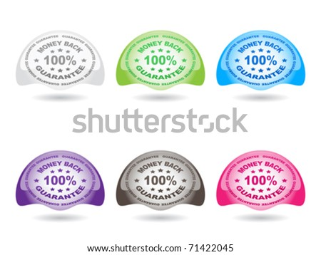 100 % GUARANTEE buttons