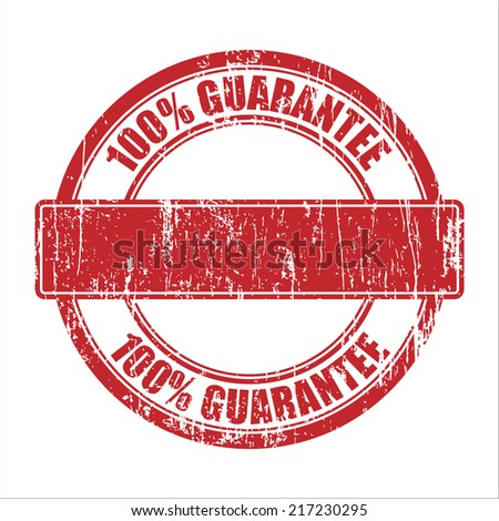 100 Guarantee Template Stamp Stock Vector 217230295 - Shutterstock