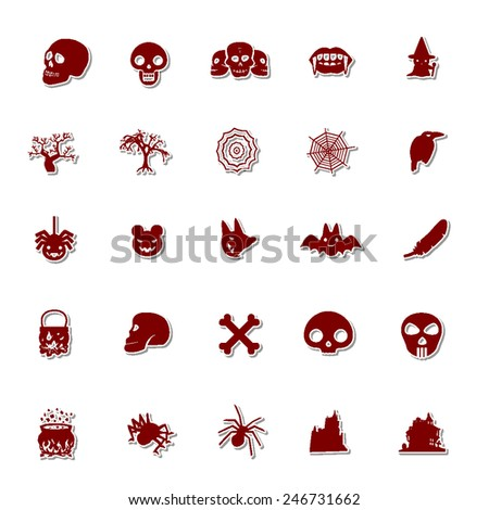Halloween icon set 2  - stock vector
