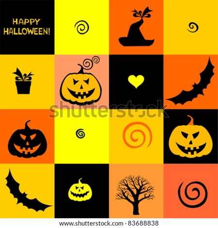 Halloween seamless pattern. Vector illustration - stock vector