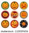 Halloween Vector banners or drink coasters. - stock vector