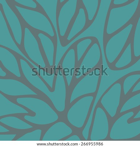 Hand drawn pattern turquoise to use in design textiles, wallpaper, interior decoration, wrapping paper, greeting cards etc