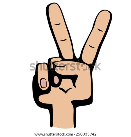 Hand making sign. Isolated on white background. - stock vector