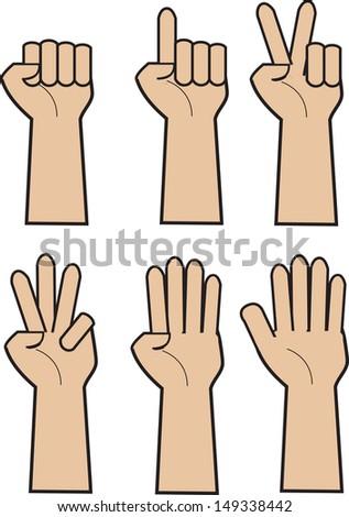 ?hands - stock vector