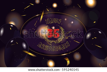 Years anniversary vector illustration banner stock vector