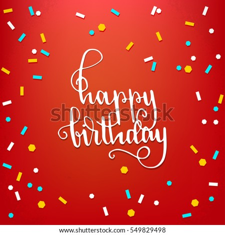 Happy birthday hand lettering greeting card stock vector 549829498 happy birthday hand lettering greeting card stock vector 549829498 shutterstock m4hsunfo