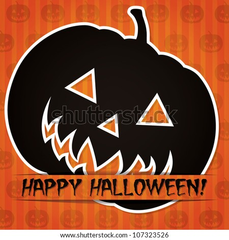 'Happy Halloween' sticker card in vector format. - stock vector