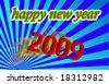 2009 happy new year - stock vector